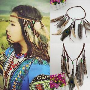 Gypsy-Peacock-Feather-Headdress-Weave-Hair-Rope-Headpieces-Carnival-Headband