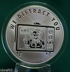 2015-Silver-Shield-034-WE-DISTRACT-YOU-034-v-2-99-9-silver-PROOF-8-Pyramid-of-Power