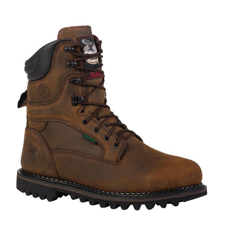 6fe8efa65e9 NIB Georgia Men s 9 Waterproof Work Boots brown-8d Boot nvefxx5108 ...
