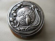 Antique Art Nouveau Kabota Dragon Leather St Lucie Silver T Tam O Shanter Purse