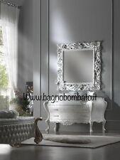 Mobile Bagno Stile Barocco Bombato140 Cm Ci Bassorilievi E  Top Cristallo