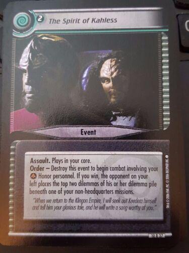 Star Trek CCG Captain/'s Log 10R37 The Spirit of Kahless NM-Mint