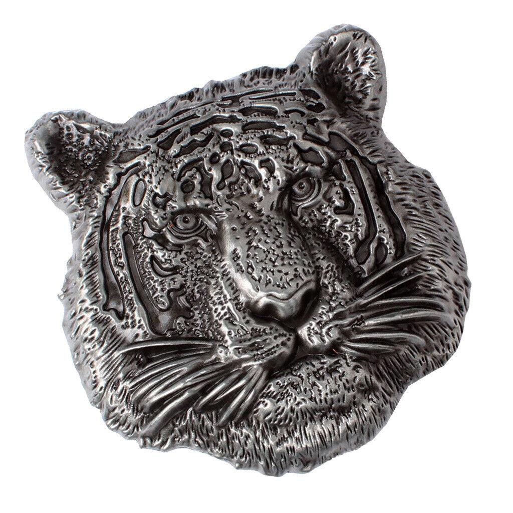 Herren Gürtelschnallen 3D Punk Bekleidungszubehör (Vintage 3D Tiger Head)