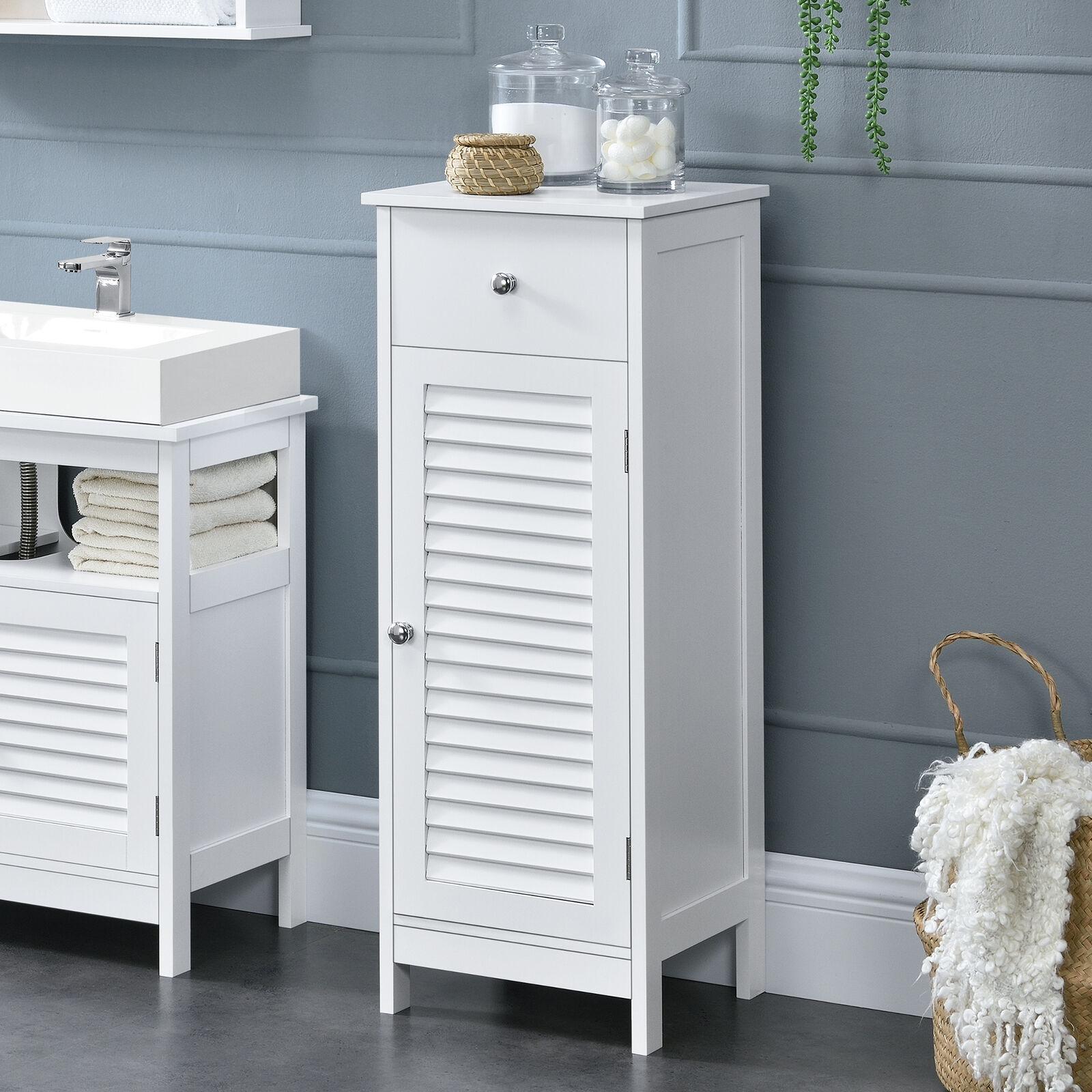 En. casa ® armario para el cuarto de baño armario estaba baño armario armario cómoda 87x30x30cm