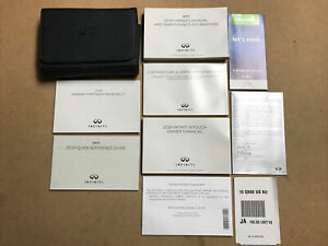 QUICK REF /& INTOUCH NAV 2019 INFINITI QX60 SUV OWNERS MANUAL BOOK w//CASE NEW