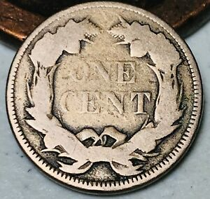 1858-Flying-Eagle-Cent-One-Penny-1C-Large-Letters-Civil-War-Era-US-Coin-CC4040