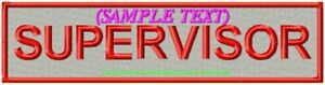 REFLECTIVE-CUSTOM-MADE-TO-ORDER-NAME-PATCHES-200mm-SILVER-BACKGROUND
