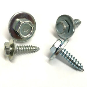 Acme-Sheet-Metal-Hex-Screws-Tappers-Loose-Washer-BZP-8-10-12-14-Gauge-QTY-20