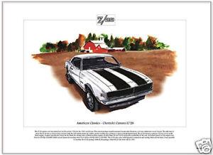 American Classics - CHEVROLET CAMARO Z/28  Fine Art Print - Trans Am Racing Car