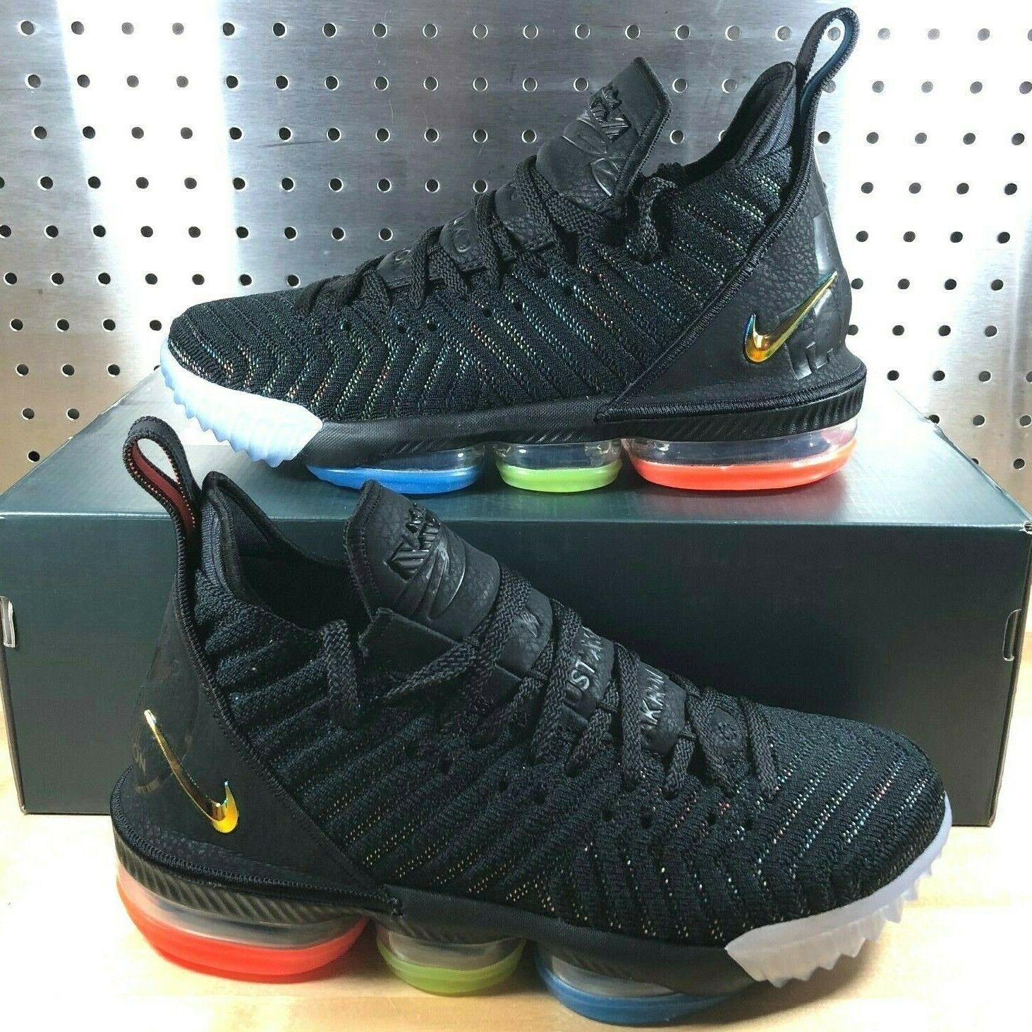 New Nike Lebron 16  I Promise  Black Metallic Silver Crimson AO2588-004 Size 11