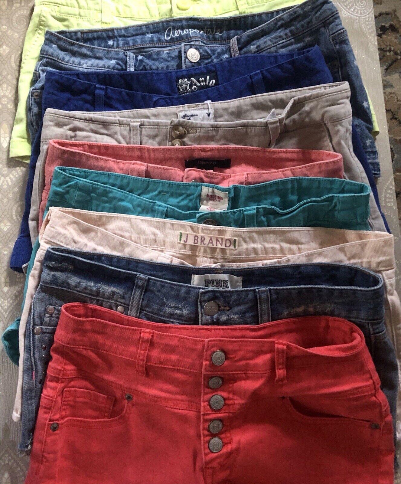 Bundle Shorts 9 Pairs Pink J Brand Anlo Aeropostal High Waisted Short Resellers