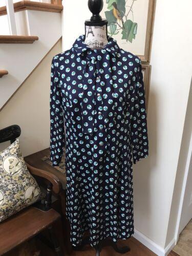 Vintage 60 -70s Amy Adams Tie Dress- L XL Mod