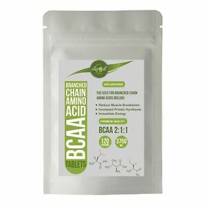 BCAA 3750mg Tablets - Branched Chain Amino Acids 2:1:1