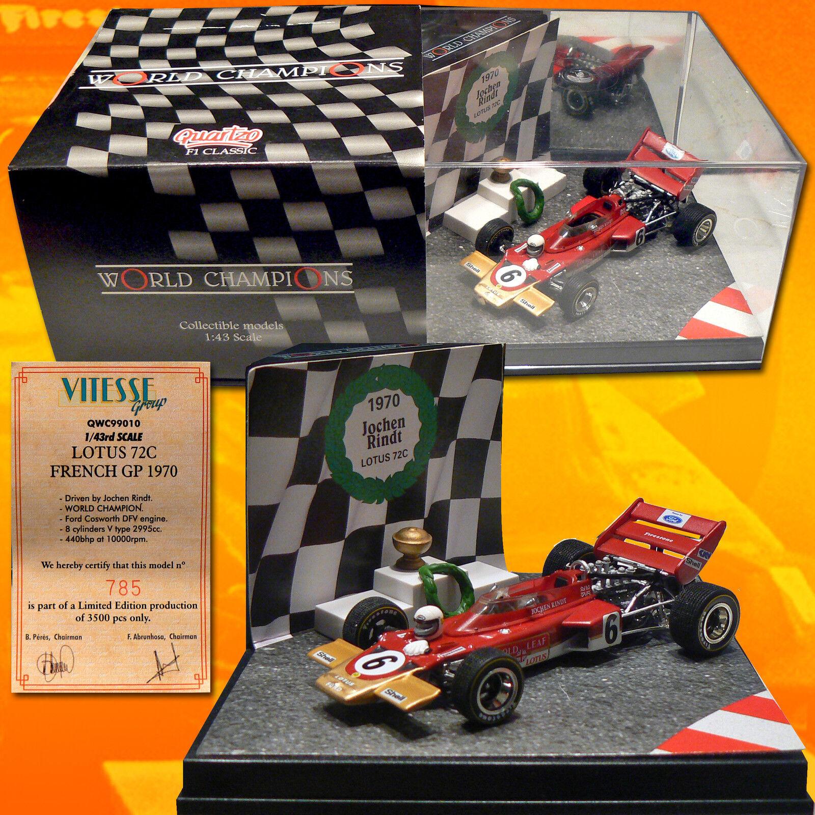 auténtico 112)  Lotus 72C Jochen Rindt Rindt Rindt Champion 1970 + podium       tienda
