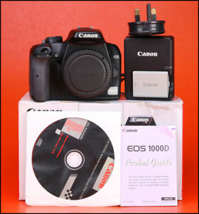 Canon-EOS-1000D-DSLR-Camera-Body-Canon-LP-E5-Batterie-amp-Canon-Chargeur-Coffret