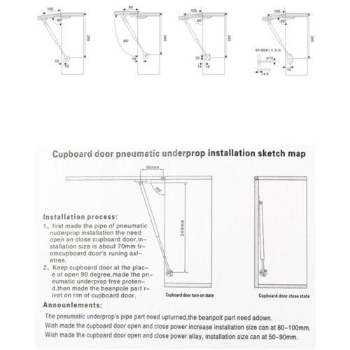 80-300N Meuble Cuisine Porte Pneumatique Hydraulique Support Gaz Printemps séjour Strut