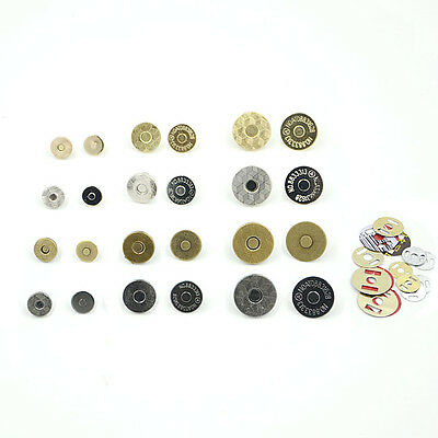 Magnetic Clasp Purse Snaps Closures Round Sewing Button Bag Press Studs Thin