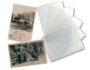 "BUSTINE PLASTICHE PER CARTOLINE /""OLD CARD/"" 14,5 x 9,5 CONF x 100 ABAFIL NC"