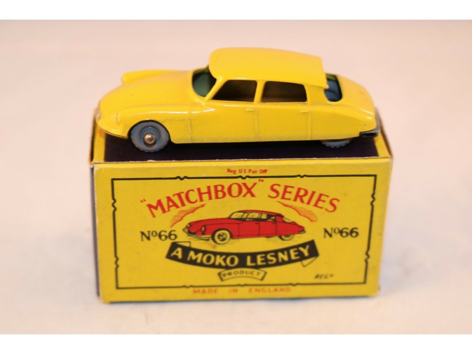 Matchbox ein moko lesney nr. 66 citroen ds 19 gpw sehr nahe - in - box