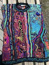 RARE Fantastic Authentic Australian COOGI Sweater-Rainbow Colors-Animals SZ L