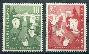 Bund-Nr-153-154-sauber-postfrisch-Bundesjugendplan-BRD-1952-MNH