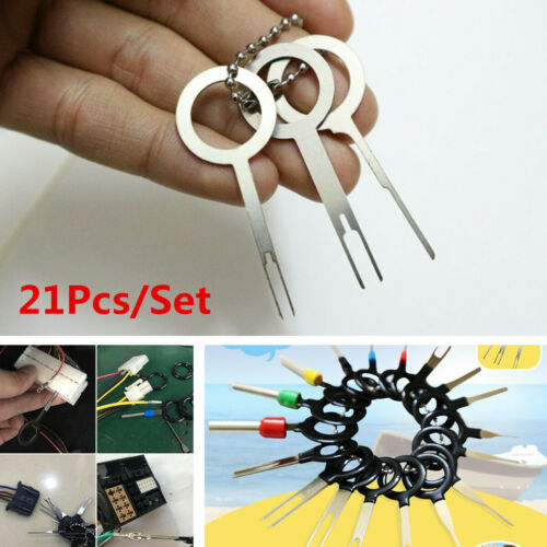 21Pcs Scooter Motorcycle Terminal Removal Tool Wiring Connector Extractor Puller