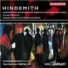 Paul Hindemith - Hindemith: Symphonic Metamorphosis of themes by Carl Maria von; Concerto for violin (2001)