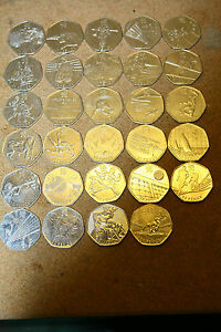 2011-London-Olympics-50p-coins-all-in-good-condition-becoming-very-rare