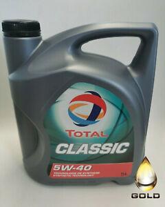 5W-40-TOTAL-CLASSIC-1-x-5-L-Motoroel-PSA-VW-OPEL-Mercedes-FIAT-BMW-Renault