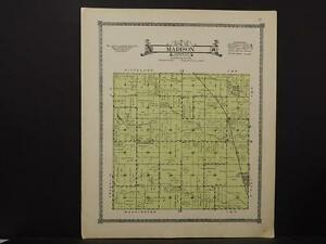 Butler County Map Madison Township 1917 K7#89 Bright Iowa
