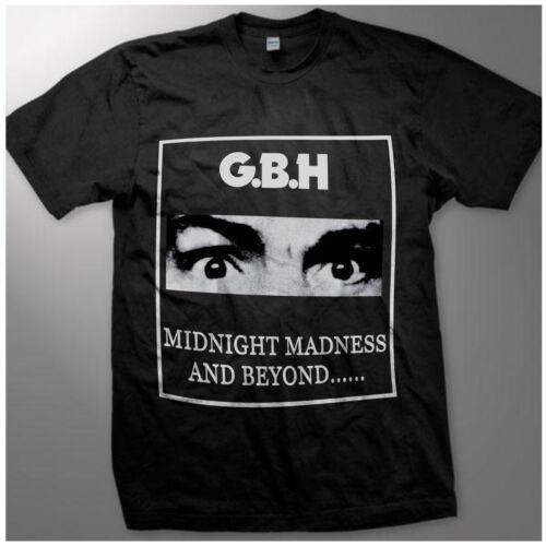 VINTAGE *G.B.H MIDNIGHT MADNESS T-SHIRT PUNK CHARGED GBH REPRINT GILDAN S-XXL