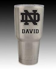 Yeti Rambler 30 oz cup tumbler engraved  Notre Dame Fighting Irish Custom 2 side