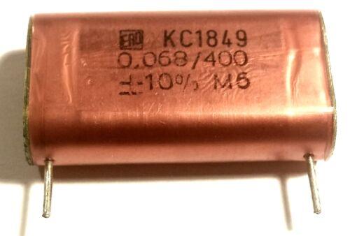 5x ERO 68nF 400V KC1849 Polycarbonate Red Foil Roederstein Tube Amplifier Audio