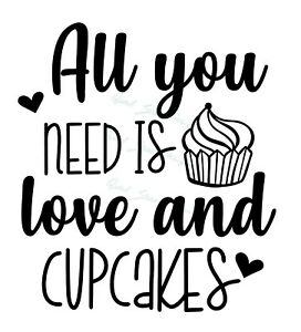 Sign All you need is Love CUPCAKE