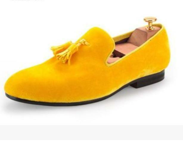 New Uomo Slip On Tassel Loafers Formal Shoes Oxford Suede Wedding Party Pump Sz@