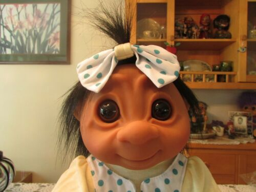 """17/"""" Dam Troll Doll NEW IN WRAPPER GIANT LIVVY w HANG TAG"""