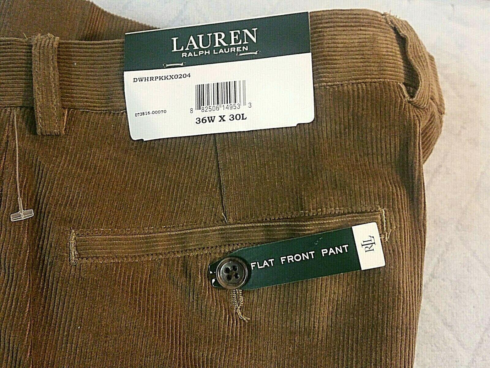 Polo Ralph Lauren  Mens 36w x 30  Corduroy Light Brown NWT