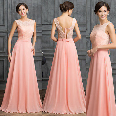 FREE SHIP Formal Evening Bridesmaid dress Party Ball Gown Long Prom maxi Dresses