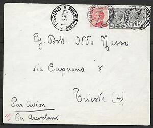 Italy covers 1926 Early Airmail cover Torino to Triest