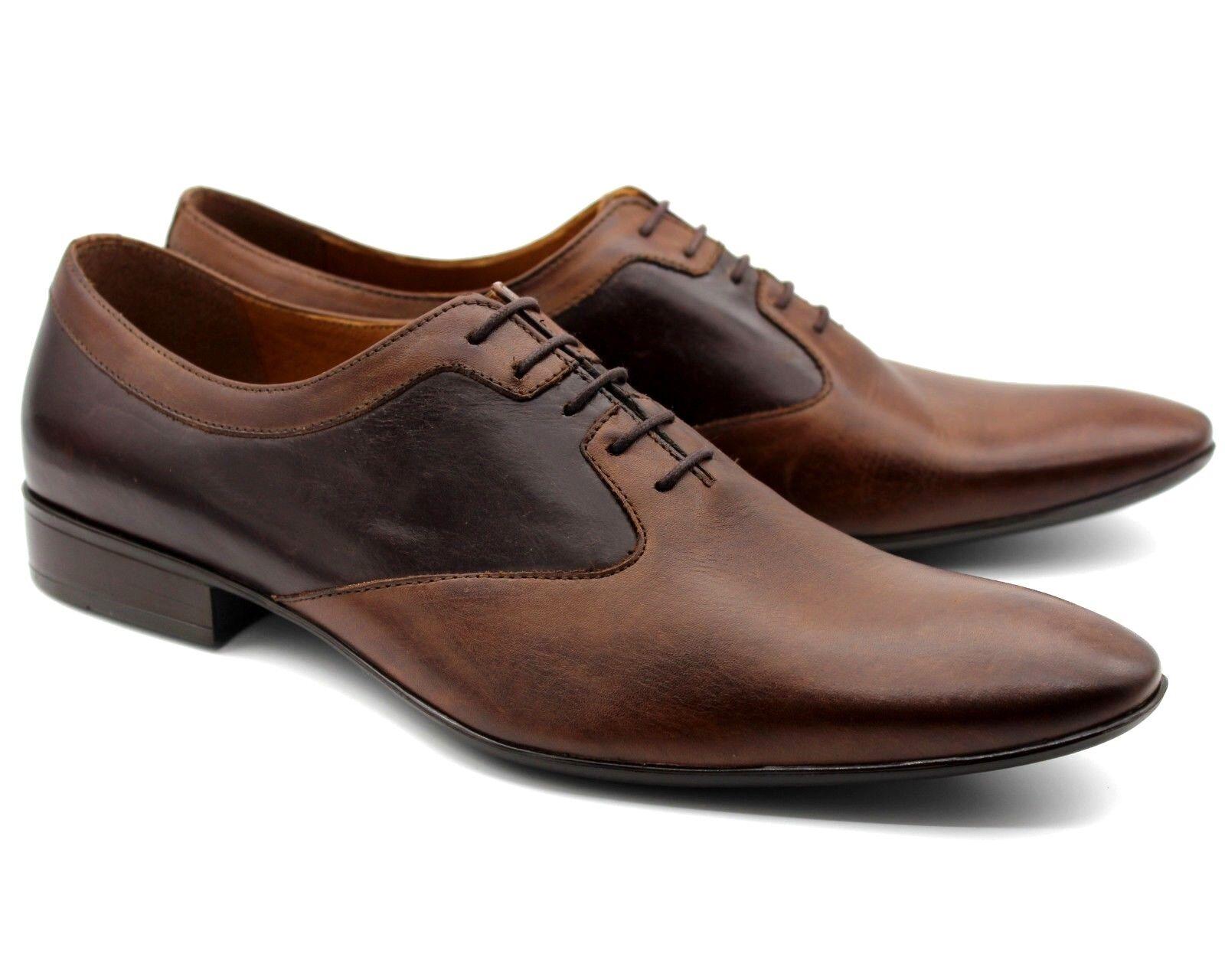 232K UK 7 homme deux tons marron cuir italien Smart