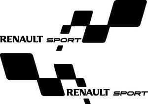 2-x-Renault-Sport-style-vinyl-stickers-decals-Clio-Megane-custom