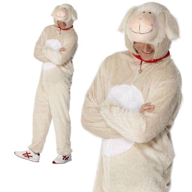 Spring Lamb Nativity Farm Animal Sheep Novelty Adults Mens Fancy Dress Costume