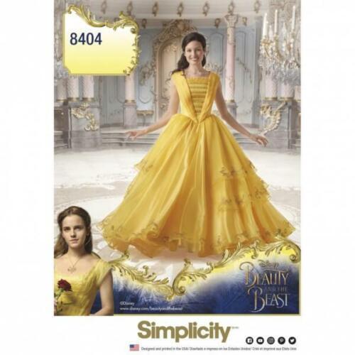 Simplicity Disney Beauty /& The Beast Costume Dress Sewing Pattern 8404