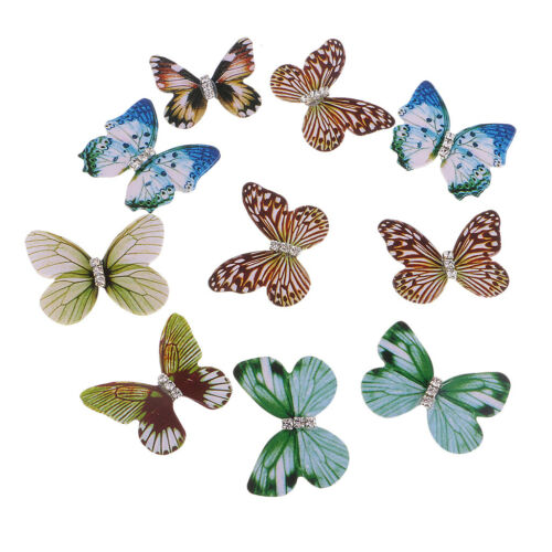 10 Stück Kunststoff Strass Schmetterling DIY Schmuck Basteln Ohrschmuck