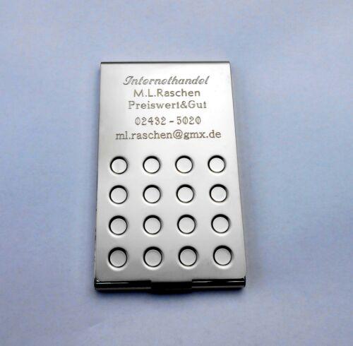 5 Stück Visitenkarten Etui  Metall Schwere Ausführung OHNE GRAVUR