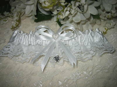 Wedding Reception Ceremony Party Satin /& Lace Butterfly Garter