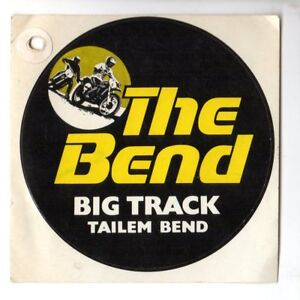 VINTAGE-1970-039-S-THE-BEND-BIG-TRACK-TAILEM-BEND-Advertising-Sticker-EXC