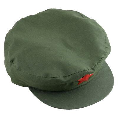 Armee Soldaten Grün Rot Stern Cap Hut Mao Kommunistische Partei Chinas PLA Hat