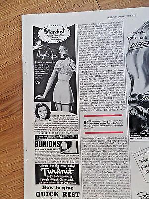 1949 Stardust Bra Undies Ad Cindy Lou Bayes