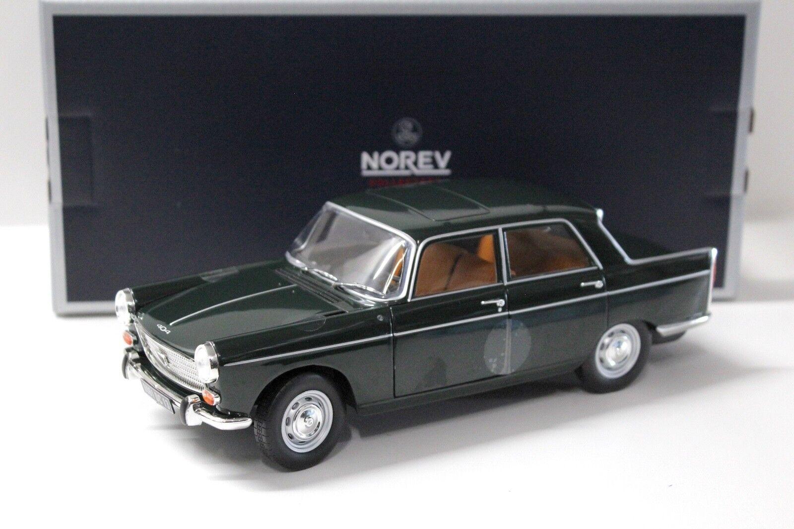 1 18 NOREV PEUGEOT 404 Sedan 1965 DARK verde NEW in Premium-MODELCARS